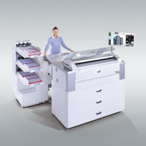 CAD-monitoimitulostin ROWE ecoPrint MFP (tulostus, skannaus, täysautomaattinen taitto)