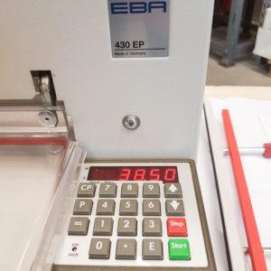 EBA 430 EP quillotine
